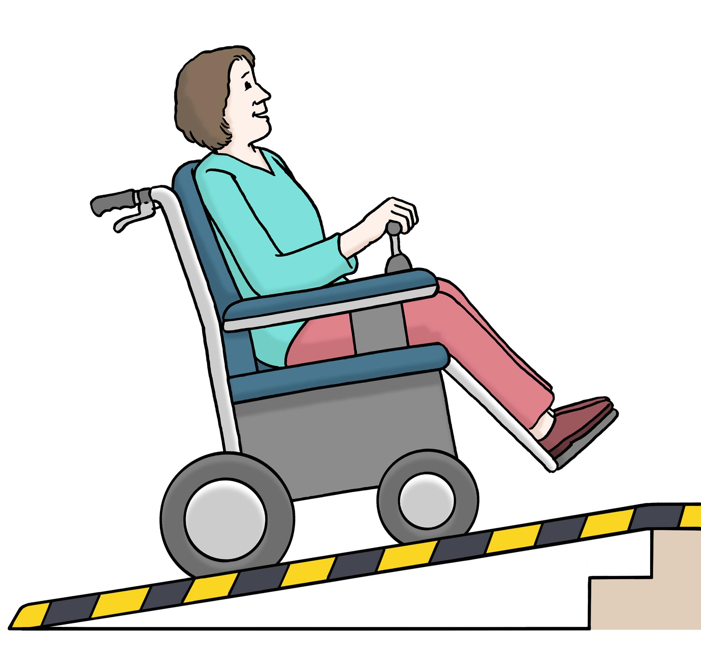 Rollstuhl Rampe