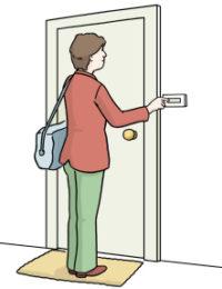 An der Tür klingeln